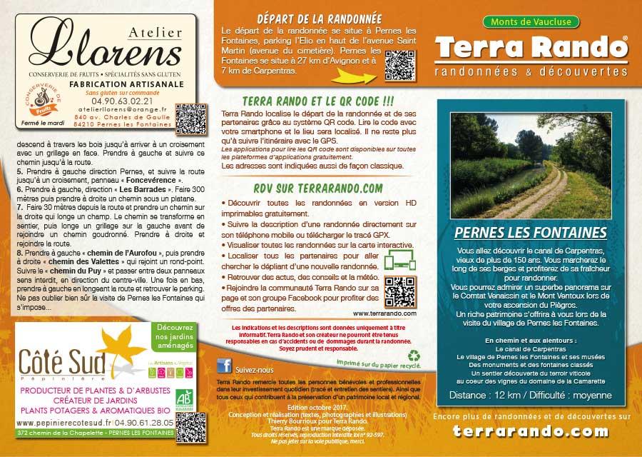 La Randonnee De Pernes Les Fontaines Dans Le Vaucluse Terrarando